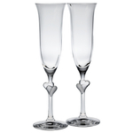 Stolzle L'Amour Crystal Glass 6.25 Ounce Champagne Flute, Set of 2