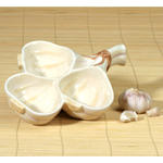 Gourmet Home Collection Ceramic Garlic Condiment Bowl