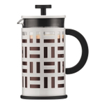 Bodum Eileen White Stainless Steel and Glass 8 Cup French Press Coffee Maker