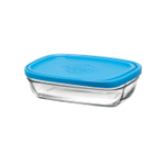 Duralex Lys 13 Ounce Rectangular Bowl with Lid