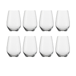 Schott Zwiesel Tritan Crystal Cru Classic 18.6 Ounce Universal Stemless Wine Glass, Set of 8
