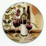 "Range Kleen 4 Piece ""Ripe from the Vine"" Round Burner Kover Set"