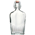 Bormioli Rocco Fiaschetta Glass Pocket Flask, 17 Ounce