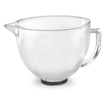 KitchenAid K5GBH 5 Quart Covered Tilt-Head Hammered Glass Bowl with Pour Spout