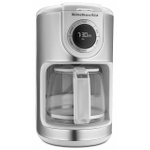 KitchenAid KCM1202WH White 12 Cup Glass Carafe Coffee Maker