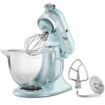 KitchenAid KSM155GBAZ Artisan Series Azure Blue 5 Quart Tilt Head Stand Mixer with Glass Bowl
