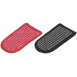 Lodge Red and Black Striped 2 Piece Hot Handle Sleeve Set