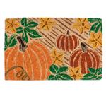 Entryways Pumpkin Patch Hand-Woven Coir Welcome Mat