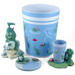 Froggy 4 Piece Bathroom Accessory Set