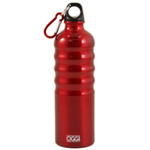 Oggi Red Aluminum Eco Friendly Sports Bottle, 26 Ounce