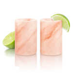 Final Touch Himalayan Salt 1.5 Ounce Shot Glass, Set of 2