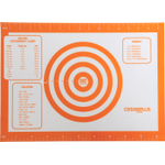 Casabella Orange Silicone Baking Pastry Mat, 16 Inch