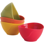 Trudeau Multi-Colored Silicone Pinch Bowl, Set of 4