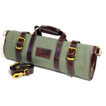 Boldric Green Canvas 17 Pocket Knife Bag