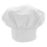 Adjustable White Twill Chef's Hat