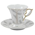 Feather Design Porcelain Espresso Set 12 Pieces