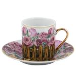 Rose Garden Porcelain Espresso Set 12 Pieces