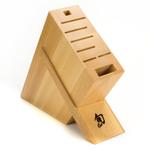 Shun Beechwood 8-Slot Kickstand Knife Block