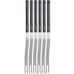 Trudeau Stainless Steel Domino Fondue Fork, Set of 6