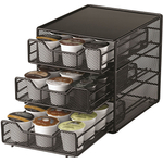 Nifty Home Products Triple Drawer K-Cup Coffee Organizer, 36 Cup