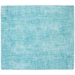 Modern Twist Linen Seafoam Blue Silicone Placemat, 14 x 16 Inch
