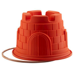 Silikomart Let's Celebrate Red Silicone Castle Cake Pan