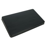 Black Rectangular Burner Covers, Set of 2