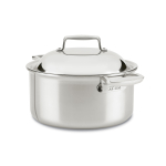 All-Clad d7 Stainless 8 Quart Round Oven with Domed Lid