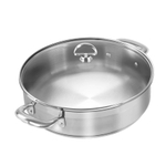 Chantal Induction 21 Steel 5 Quart Sauteuse with Glass Lid