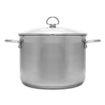 Chantal Induction 21 Steel 8 Quart Stockpot with Glass Lid