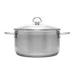 Chantal Induction 21 Steel 6 Quart Casserole with Glass Lid
