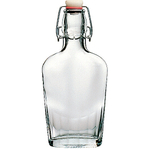 Bormioli Rocco Fiaschetta Glass Pocket Flask, 8.5 Ounce