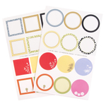 Round and Square Decorative Gift Label 48 Piece Assortment Set