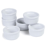 Progressive International 5 Ounce White Porcelain Stacking Ramekin, Set of 6