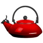 Le Creuset Cherry Enamel On Steel 1.5 Quart Zen Tea Kettle
