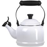 Le Creuset White Enamel On Steel 1.25 Quart Demi Tea Kettle