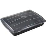 Chicago Metallic Gourmetware Make N Take Baking Pan with Lid, 13.2 x 9 Inch