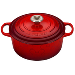 Le Creuset Signature Cerise Enameled Cast Iron 4.5 Quart Round Dutch Oven