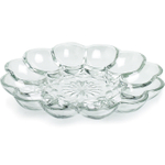 Anchor Hocking Presence Glass Egg Platter