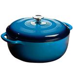 Lodge Caribbean Blue Color Enamel Dutch Oven, 7.5 Quart