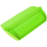 Lekue Green Silicone Steam Case with Draining Tray, 22 Ounce