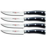 Wusthof Classic Ikon High Carbon Stainless Steel 4 Piece Steak Knife Set with Display Box