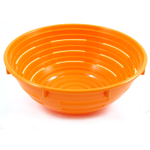 Scandicraft Orange Round Plastic Bread Proofing Bowl, 4 Cup