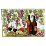 Home Classics 13 x 19 Inch Wine Table Place Mat, Set of 6