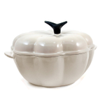 Le Creuset Dune Enameled Cast Iron Pumpkin-Shaped Cocotte, 2.25 Quart