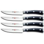 Wusthof Classic Ikon 4 Piece Steak Knife Set, 4.5 Inch