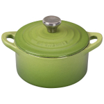 Le Creuset Cast Iron Palm Mini Cocotte with Stainless Steel Knob, 1/3 Quart