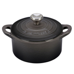 Le Creuset Oyster Cast Iron Mini Cocotte with Stainless Steel Knob, 1/3 Quart