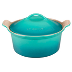 Le Creuset Heritage Caribbean Stoneware Covered Round Casserole Dish, 3 Quart