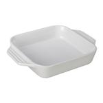 Le Creuset White Stoneware Square Baking Dish, 2.2 Quart
